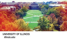Fall scene of the Quad at the University of Illinois