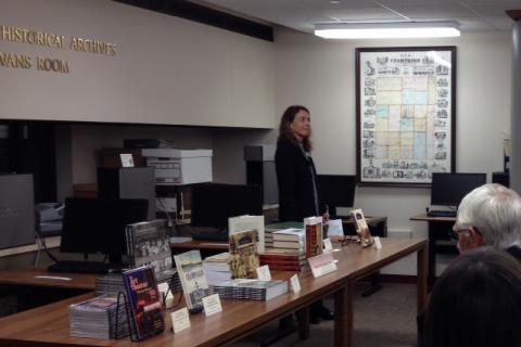 Authors Panel book display, October 25, 2014