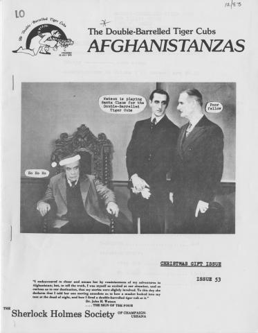 Afghanistanzas Vol. 7, No. 3, Issue 53 (December 1983) The Christmas Gift Issue