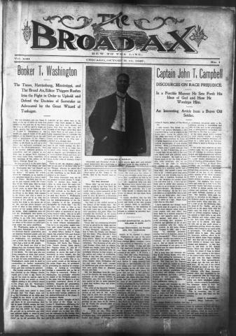 The Broadax, an African-American newspaper,issue dated October 12, 1907