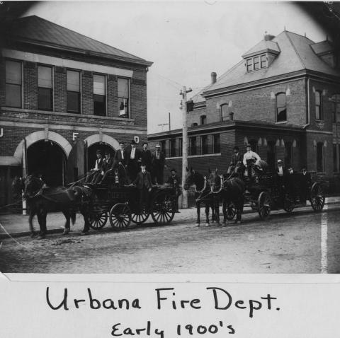 Urbana Fire Department, early 1900s