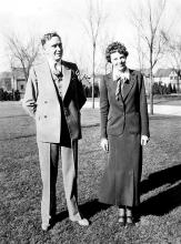 Amelia Earhart and University of Illinois President Arthur Willard