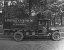 Champaign Ice Cream Co. truck, not dated