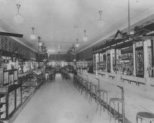 Vriner's Confectionery interior, ca 1919