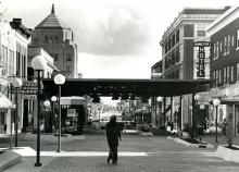 Downtown Champaign Mall, April 27, 1975