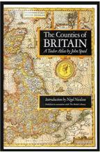 Book cover of The Counties of Great Britain - A Tudor Atlas by John Speed, printed 1988
