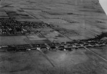 Aerial photo of Chanute AFB and Rantoul, 1917-1930s