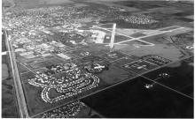 Aerial photo of Chanute AFB and Rantoul, 1990s
