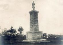 Soldiers Monument in Mt. Hope Cemetery, Sidney, IL. (abt. 1902)