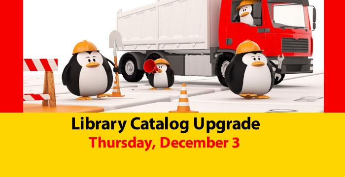Slide about Library Catalog Upgrade