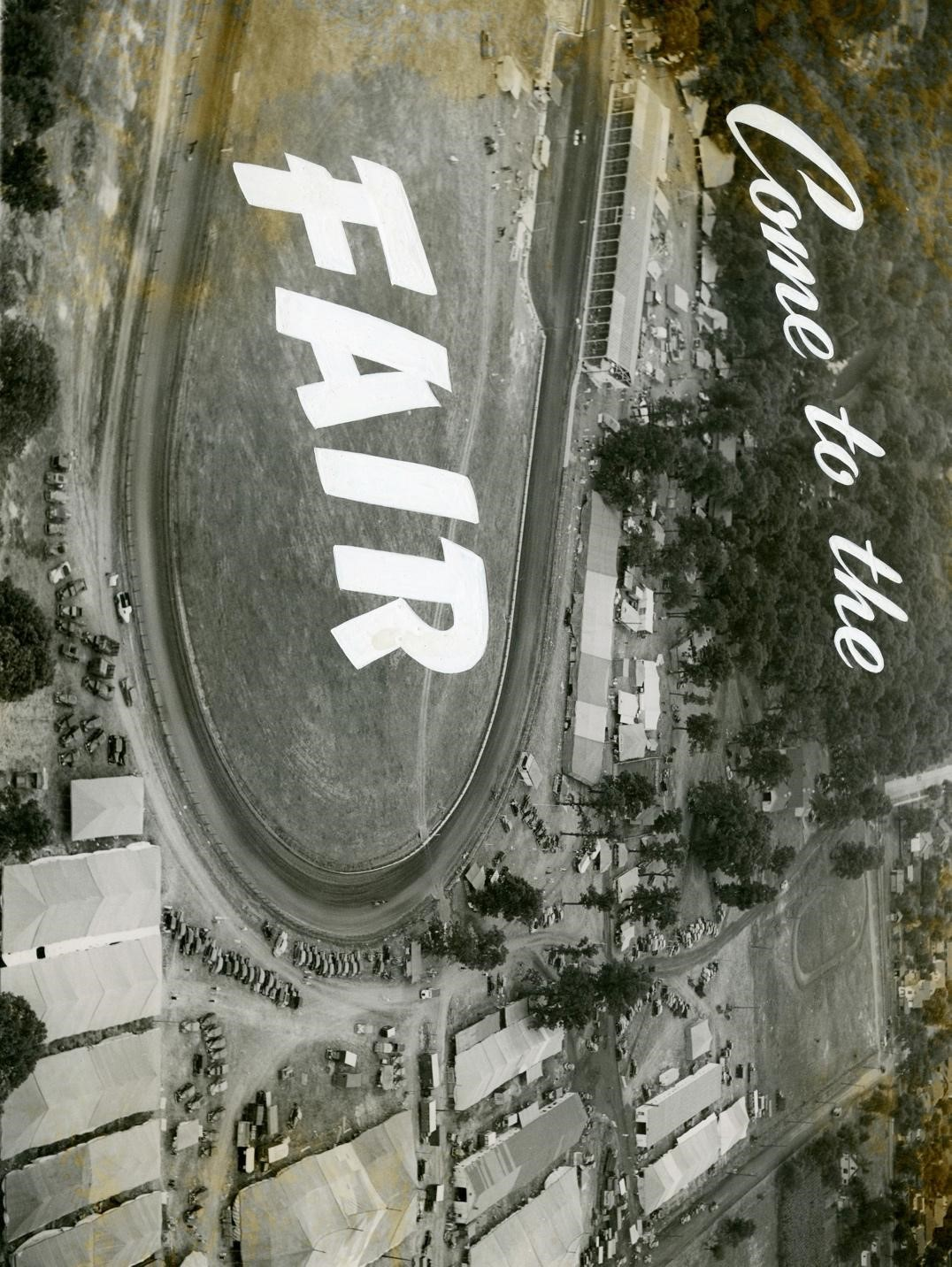 Aerial photograph of fairgrounds