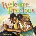 "A cover of one of Nikki Grimes' many books about life and love, ""Welcome Precious."""