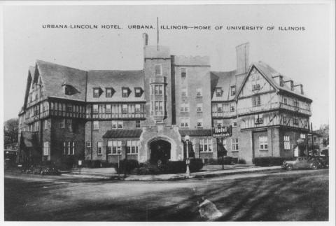 The Urbana Lincoln Hotel as completed, ca. 1940.