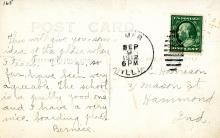 Postcard from Bernice Harrison, reverse side