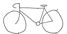 Bicycle sign drawing, City of Urbana Public Works Dept. Records