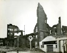 Remains of Flat Iron building, 1948