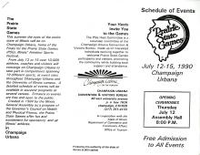 1990 tri-fold pamphlet for Prairie State Games