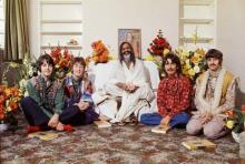 The Beatles with Maharishi Yogi in India, 1967