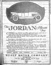 Advertisement for Jordan Silhouette Five, The News-Gazette, July 4, 1920