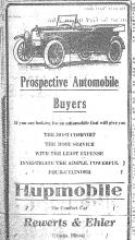 Advertisement for Hupmobile, Couier, July 3, 1920